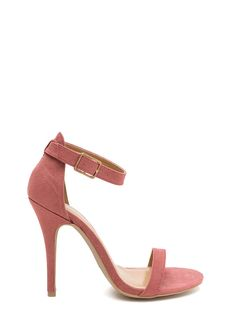 Classic Single Strap Suede Heels #mauve #gojane #pink #blush