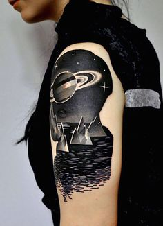 Cosmic Tattoos..... These are stunning!!!