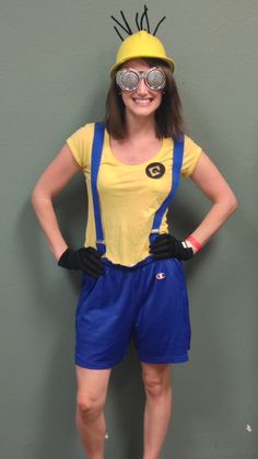 #DIY Minion Costume from Goodwill  Visit your local Goodwill for all your Halloween shopping: www.goodwillvalleys.com