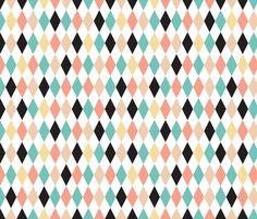 Geometric circus diamond chevron fabric by littlesmilemakers on Spoonflower - custom fabric