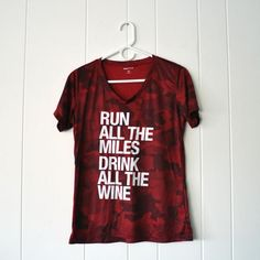 Run All The Miles, Drink All The Wine - Women's Performance T-Shirt