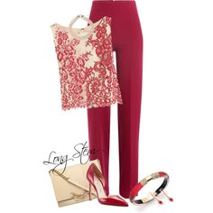 A fashion look from June 2017 featuring Alice + Olivia tops, Emilia Wickstead pants and Manolo Blahnik pumps. Browse and shop related looks.