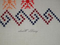 Cusături artizanale S Diary, Cross Stitch, Cross Stitch Embroidery, Stitching, Ponchos, Bias Tape, Punto De Cruz, Tejidos, Seed Stitch