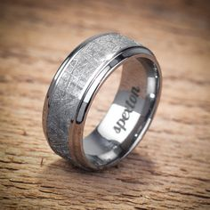 """Titanium Meteorite """"Koenig"""" Wedding Band from Spexton Custom Jewelry"""