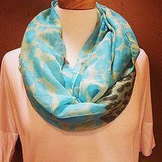 aqua and white #scarves