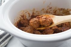 Mozzarella Stuffed BBQ Meatballs are the Keto friendly slow cooker meal you never knew you needed! Make these delicious meatballs today! Bbq Meatballs, Tasty Meatballs, Slow Cooker Recipes, Beef Recipes, Beef Meals, Meatloaf Recipes, Meatball Recipes, Yummy Recipes, Low Carb