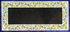 Handpainted tabletop in glazed lava stone by lavapreziosa.com