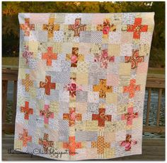 I love everything about this quilt!  The Sewing Chick: Low Volume and Vintage Roses