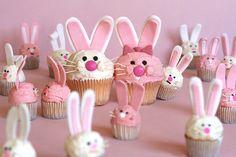 Easter Bunny cupcakes by Bakerella.