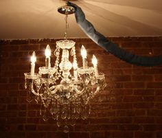 How to convert a hardwired chandelier into a plug-in (renter's take note)