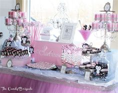 Penguin Themed Candy Table - Baby Shower