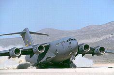 C-17 Globemaster: a large military transport aircraft.