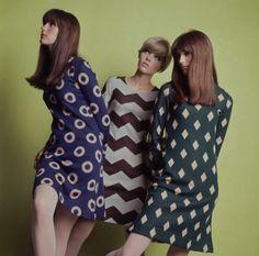 pinto:    Groovy '60s print dresses.