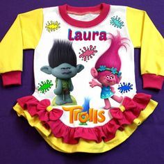 Trolls Personalized Girl Pajama