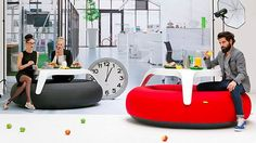 Blofield DoNuts Is An Inflatable Picnic Table
