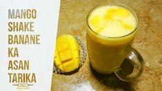 Mango Shake Recipe | मैंगो मिल्कशेक रेसिपी | Easy Milkshake By Golden Ki... Mango Milkshake, Oreo Milkshake, Milkshake Recipes, Daal, Tasty, Banana, Ideas