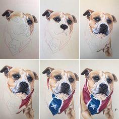 Progress, progress, progress, the making of a portrait!