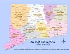 Connecticut Counties (see Middlesex [Middletown])