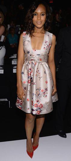 Kerry Washington in Stella McCartney dress - Project Runway Fashion Show…