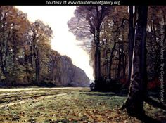The Road To Chailly - Claude Oscar Monet
