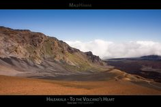 Haleakala To the Volcano's Heart - Maui Hawaii Posters Series - A scenic view of the breathtaking crater of the Haleakala Volcano. Haleakala National Park Maui, Hawaii.