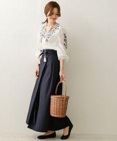 露出をおさえて大人の上品さをアピール♡ロングスカートで大人レディな着こなしを♡ - Yahoo! BEAUTY