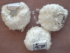 White Ice Yarn 3 Skeins 50 g/100 1.76 oz/109 yds Each Flag Butterfly Carry Along #Ice #CarryAlong