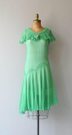 Leap Year dress vintage 1920s dress silk chiffon by DearGolden