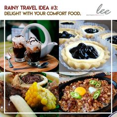 Who says you cannot travel and have a vacation during the rainy season?  #LeeBoutiqueHotel has some tips for your chill moments!  Rainy Travel Idea #3: Delight with your comfort food. Tagaytay has lots of specialties and recipes which can satisfy your taste buds! -Feel warm with different kinds of coffee. -Have a bowl of special bulalo. -Enjoy Tagaytay sizzling recipes. -Satisfy your sweet tooth with Tagaytay desserts.