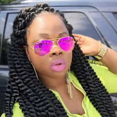 Cheap Hair Bundles African Braiding Hair Extensions For Sale Sexy Synthetic Havana Mambo Twist Purple Wavy Braids For Long Hair Hair Extensions For Sale, Braid In Hair Extensions, African Braids Hairstyles, Braided Hairstyles, Twist Box Braids, Twists, Havana Braids, Curly Hair Styles, Natural Hair Styles