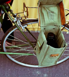 Vintage Belgian Military Bag Growler Pannier by Reclamation Department  on Scoutmob