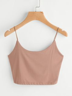 Casual Cami Plain Regular Fit Spaghetti Strap Pink and Pastel Crop Length Crop Cami Top Cami Tops, Cute Crop Tops, Cami Crop Top, Crop Tank, Crop Top Outfits, Cute Outfits, Teen Fashion, Fashion Outfits, Trendy Outfits