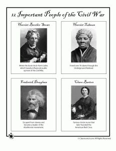 "Printables ""trading cards"" of important American historical figures!"