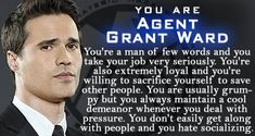 Which Agents of Shield Character are you? I am Agent Grant Ward. Agents Of Shield Characters, Marvels Agents Of Shield, Marvel Characters, All Marvel Movies, Grant Ward, Tv Series 2013, Agent Carter, Nick Fury, Miss America