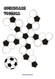 Bouwplaat voetbal Soccer Birthday, Cute Birthday Gift, Diy Birthday, Fun Crafts, Diy And Crafts, Paper Crafts, Diy For Kids, Crafts For Kids, Construction Theme Party