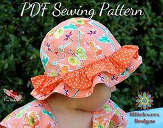 S113CHLD Beach Sun Hat PDF Sewing Pattern by StitchwerxDesigns