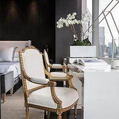 Bedroom Desk in Front of Window, Contemporary, Bedroom Apartment Desk, Apartment Living, Luxury Interior, Interior Design, Bedroom Styles, New Room, Furniture Design, Sweet Home, House Design