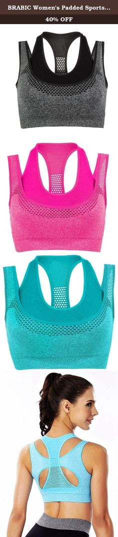 BRABIC Women's Padded Sports Bras with Double Layer Racerback High Impact Pack of 3 (L, GeryRoseBlue). Sports Bra's Features: Racerback gives maximum freedom of movement Double Layer and Removeable Pads for convenience Sleek,stretchy fabric is wicking,breathable Lightweight,super soft,smooth,stretchy and super-breathable Pullover Style Machine washable Wide Shoulder Straps Why choose us ? We have over 10 years experience of manufacturing sport bra, so do not worry about the quality All…