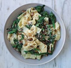 Purple Sprouting Broccoli Pappardelle with Gremolata Crumbs | sheerluxe.com