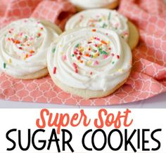 Super Soft Sugar Cookies are the best sugar cookies ever! Make with classic ingredients, this sugar cookie recipe has great texture and flavor. This is the last sugar cookie recipe you'll ever need! Amazing recipe for sugar cookie frosting included. Lemon Cookies Easy, Lemon Sugar Cookies, Sugar Cookie Frosting, Sugar Cookie Dough, Sugar Cookies Recipe, Yummy Cookies, Buttermilk Cookies, Jello Cookies, Brownie Cookies