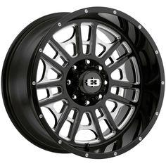 One Vision 418 Widow Gloss Black Milled Spoke Rim for sale online Silverado Rims, 2011 Silverado, 20 Inch Rims, 20 Rims, Lifted Ram, Lifted Chevy, Chrome Wheels, Black Wheels, Trd Pro Wheels