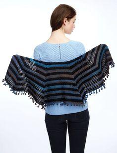 Casual Cool Shawl - Free Crochet Pattern - (yarnspirations)