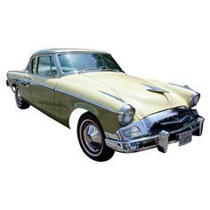 Studebaker President 1955, Collector Car Yello and Lime Green 1