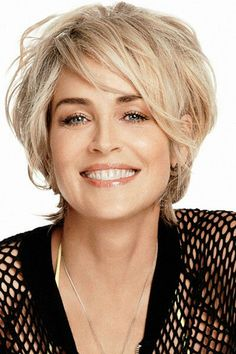 What to Wear With a Pixie Cut – Women Fashion Tips – Hairdo Chicks Pixie Haircut For Thick Hair, Short Choppy Hair, Short Hair With Layers, Cute Hairstyles For Short Hair, Short Hair Cuts For Women, Layered Hair, Messy Pixie, Sharon Stone Short Hair, Sharon Stone Hairstyles