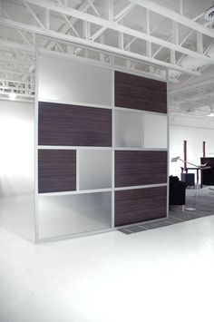 8 x 10 ' Sliding Screen Doors with Wood Laminate & Frosted Panels Cheap Room Dividers, Office Room Dividers, Room Divider Shelves, Fabric Room Dividers, Decorative Room Dividers, Portable Room Dividers, Wooden Room Dividers, Living Room Divider, Room Divider Walls