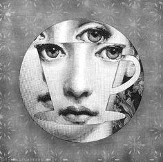 coffee, tea, or me Cavalieri melamine plate Italian Painters, Italian Artist, Piero Fornasetti, Fornasetti Wallpaper, Quote Collage, Collage Vintage, Plate Design, Computer Wallpaper, Medium Art