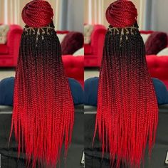 How to style the box braids? Tucked in a low or high ponytail, in a tight or blurry bun, or in a semi-tail, the box braids can be styled in many different ways. Box Braid Hair, Blonde Box Braids, Black Girl Braids, Braids For Black Hair, Ombre Box Braids, Ombre Hair, Box Braids Hairstyles For Black Women, African Braids Hairstyles, Girl Hairstyles