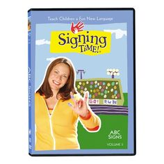 Signing Time Vol. 5: Alex, Leah, their frog Hopkins, and host Rachel Coleman teach the alphabet from A to Z in American Sign Language in a fun and playful way.