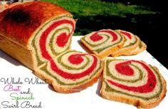 AMBROSIA: Whole Wheat Beet And Spinach Swirl Bread | Holi Bread (Vegan)
