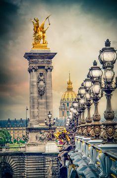 Paris, Pont Alexander III, by Alex Hill